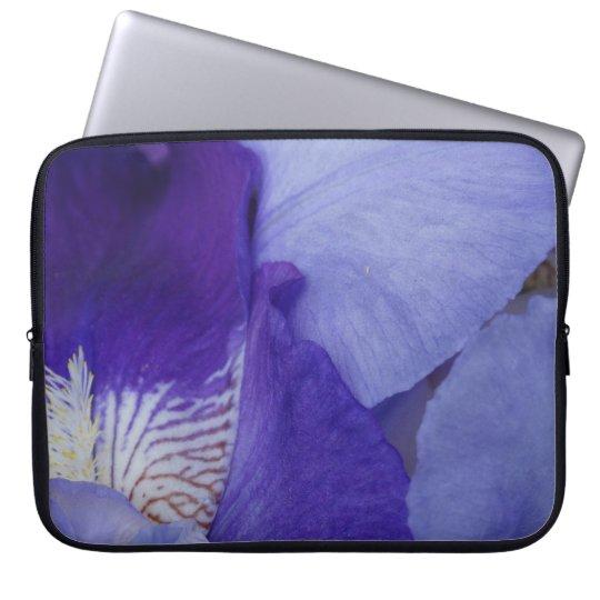 "Purple Iris Flower PhotoNeoprene Laptop Sleeve 15"""