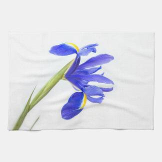 Purple Iris Flower Tea Towel