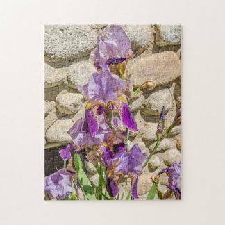 Purple Iris; Flowers; Spring Jigsaw Puzzle