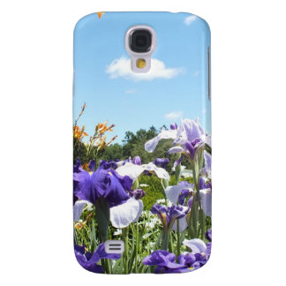 Purple Iris Garden Samsung Galaxy S4 Case