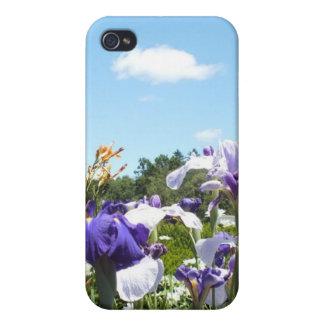 Purple Iris Garden iPhone 4/4S Cover