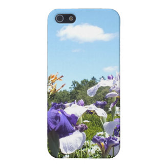 Purple Iris Garden iPhone 5/5S Covers