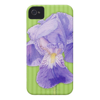 Purple Iris green BlackBerry Bold Barely There iPhone 4 Cover