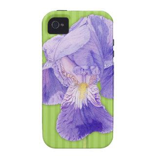 Purple Iris green iPhone 4 Case-Mate Tough™ Case-Mate iPhone 4 Case