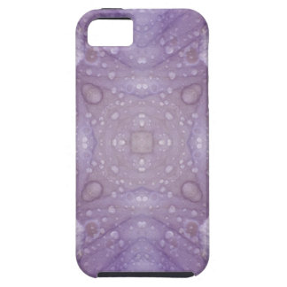 Purple Iris Kaleidoscope with Raindrops iPhone 5 Cover