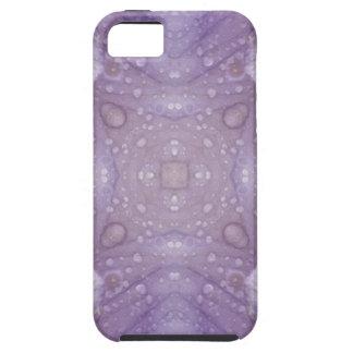 Purple Iris Kaleidoscope with Raindrops iPhone 5 Cover