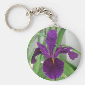 Purple Iris Key Ring