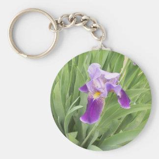 Purple Iris Keychain
