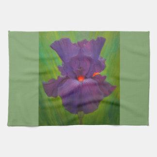 Purple Iris Kitchen Towel