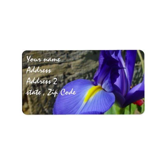 Purple Iris Label