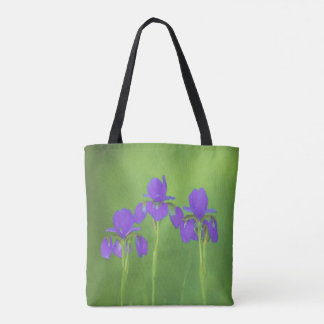 Purple Iris Painting - Original Flower Art Tote Bag