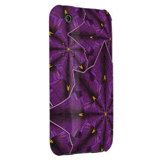 Purple Iris Petal Mandala iPhone3 Casemate iPhone 3 Cases