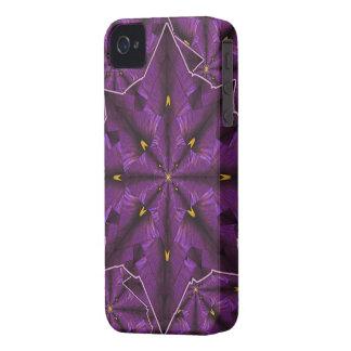 Purple Iris Petal Mandala iPhone4 Casemate iPhone 4 Covers