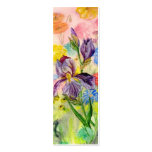 'Purple Iris' Small Bookmark Double-Sided Mini Business Cards (Pack Of 20)