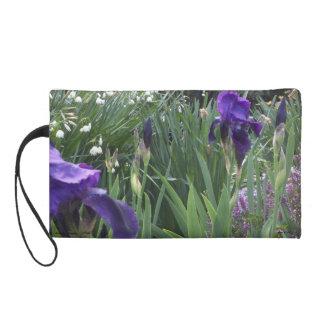 Purple Iris w/small bells Wristlet Clutches