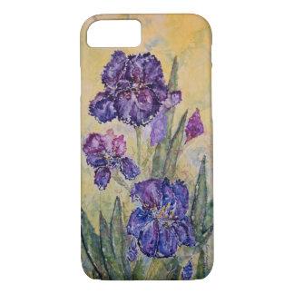 Purple Iris Watercolor Art Design iPhone 7 Cases