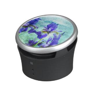 Purple Iris Watercolor Bluetooth Speaker