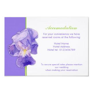 "Purple Iris Wedding Enclosure Card 3.5"" X 5"" Invitation Card"