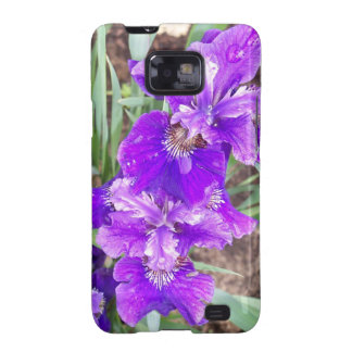 Purple Iris with Water Droplets Galaxy SII Cover