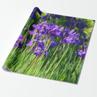 Purple Iris Wrapping Paper