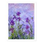 Purple Irises by Claude Monet Postcard