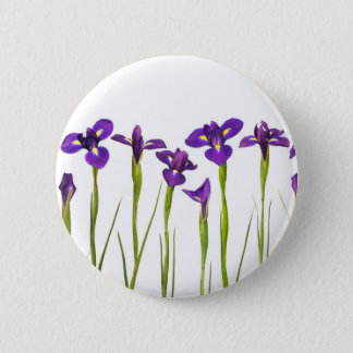 Purple Irises - Iris Flower Customized Template 6 Cm Round Badge
