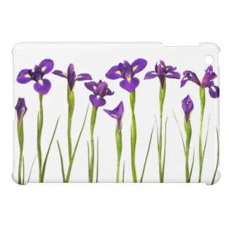 Purple Irises - Iris Flower Customized Template Cover For The iPad Mini