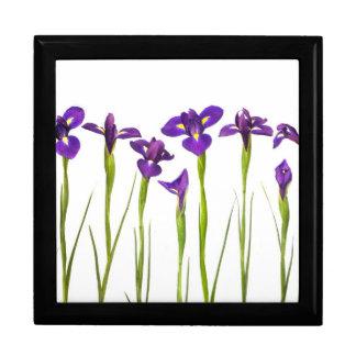 Purple Irises - Iris Flower Customized Template Large Square Gift Box
