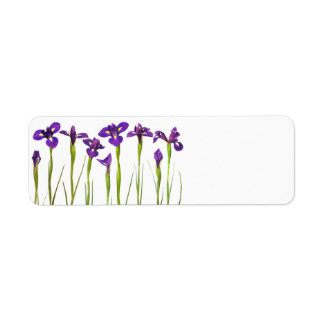 Purple Irises - Iris Flower Customized Template Return Address Label