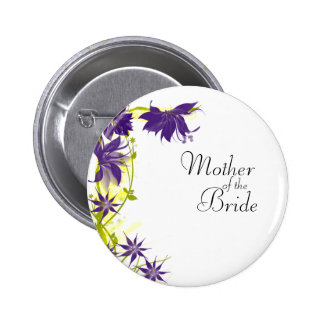 Purple Island Wedding Flowers Mother of the Bride 6 Cm Round Badge