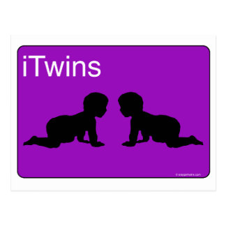 purple iTwins Post Cards