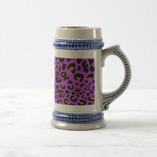 Purple Jaguar Beer Stein
