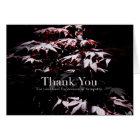 Purple Japanese Maple 1 Sympathy Thank You card