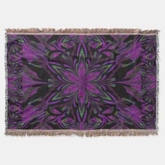 Purple Jasmine Throw Blanket