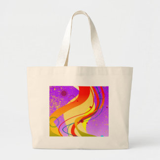 Purple Jazz Background Large Tote Bag
