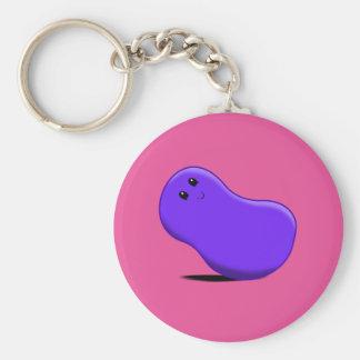 Purple Jellybean Keychain