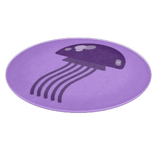 Purple Jellyfish Cutting Board