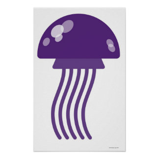 Purple Jellyfish Poster