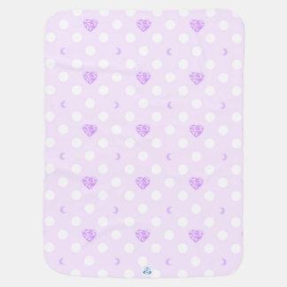 Purple Jewel and Polka Dots Pramblanket