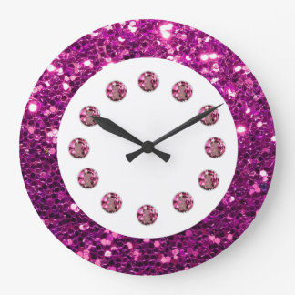 Purple Jewel Bling Wall Clock