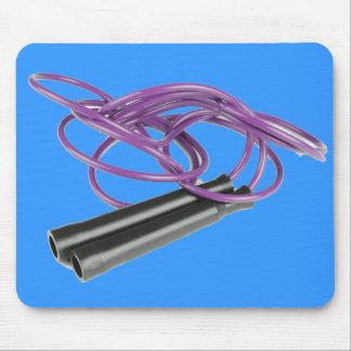 Purple Jump Rope Mouse Pad