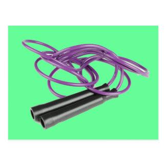 Purple Jump Rope Postcard