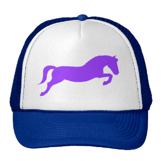 Purple Jumping Pony Mesh Hats