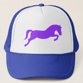 Purple Jumping Pony Trucker Hat