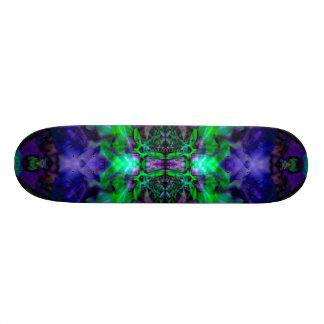 Purple kaleidoscope flower pattern 21.3 cm mini skateboard deck