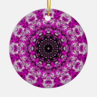 Purple kaleidoscope ornament