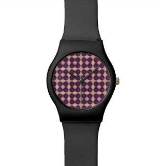 Purple Kaleidoscope Pattern Watches