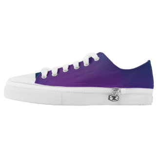 Purple Kamikaze Low Tops Printed Shoes