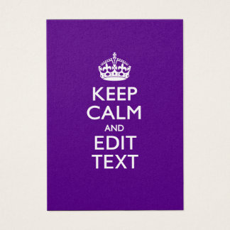 Purple Keep Calm And Have Your Text Easily Business Card