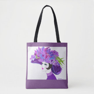 Purple Kentucky Derby Hat Tote